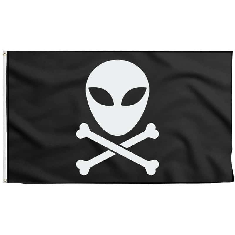 Drapeau Pirate Alien - Drapeau Pirate - Jolly Roger