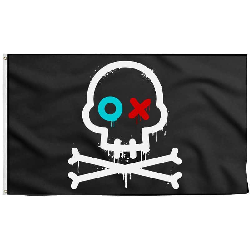 Drapeau Pirate Anarchiste - Drapeau Pirate - Jolly Roger