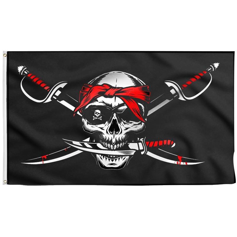 Drapeau Pirate Mort Violente - Drapeau Pirate - Jolly Roger