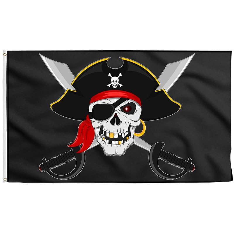 Drapeau Pirate Skull Sabre - Drapeau Pirate - Jolly Roger