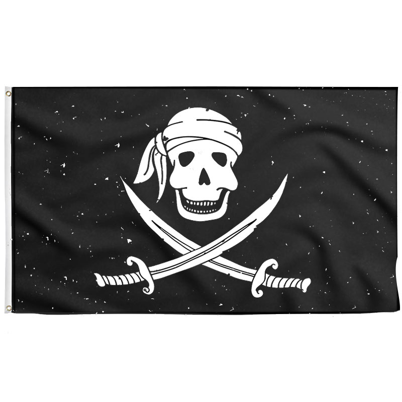 Drapeau Tête de Mort Pirate Enfant - Drapeau Pirate - Jolly Roger
