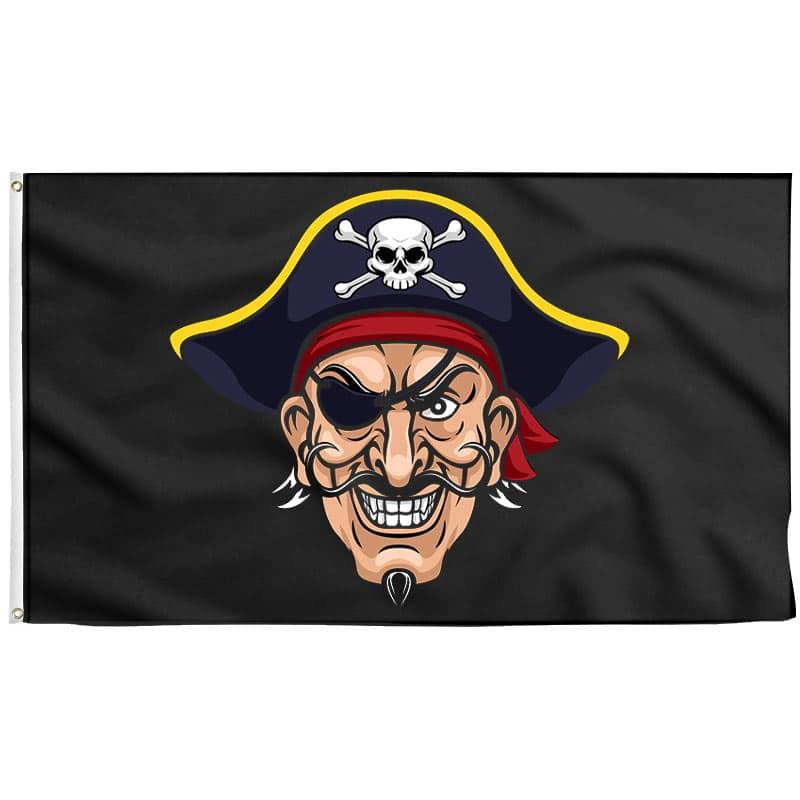 Drapeau Tête de Pirate - Drapeau Pirate - Jolly Roger