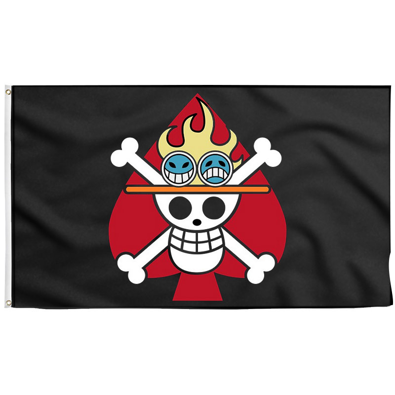 Ace Jolly Roger One Piece - Drapeau Pirate - Jolly Roger