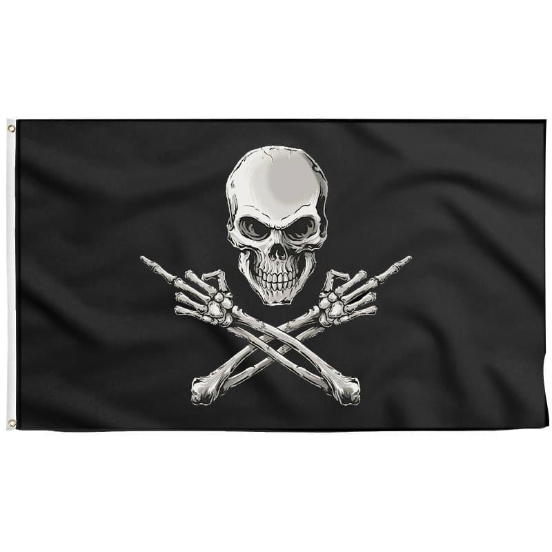 Drapeau Doigt d'Honneur Pirate - Drapeau Pirate - Jolly Roger