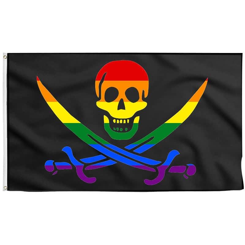 Drapeau Pirate Gay - Drapeau Pirate - Jolly Roger
