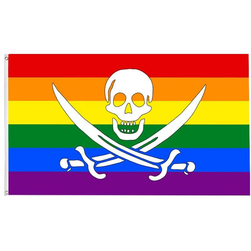 Drapeau Pirate LBGT - Drapeau Pirate - Jolly Roger