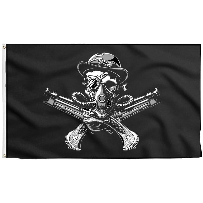 Steampunk Jolly Roger - Drapeau Pirate - Jolly Roger